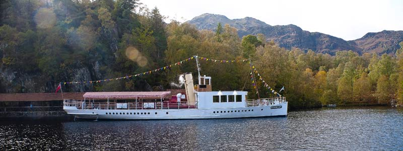 The Steamship Sir Walter Scott on Loch Katrine